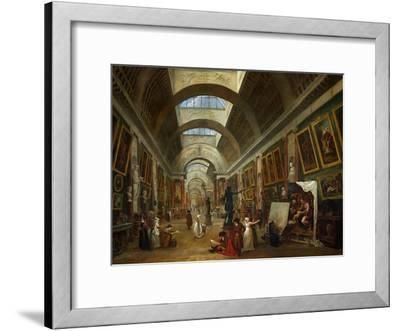 Restoring the Grande Galerie of the Louvre, 1796, on the Right, Robert Painting