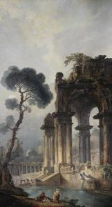 Ruins Near Water, c.1779 by Hubert Robert