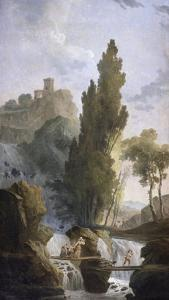 The Antique Temple by Hubert Robert