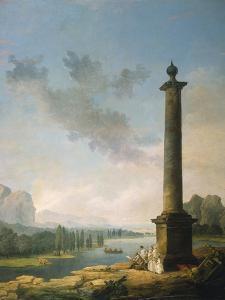 The Column, 1789 by Hubert Robert