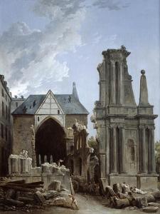 The Demolition of the Church of the Feuillants, 1805 by Hubert Robert