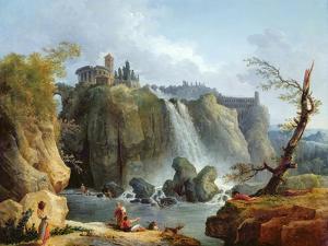 The Falls of Tivoli, 1768 by Hubert Robert