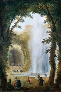 The Fountain in the Grove of the Muses at the Chateau De Marly by Hubert Robert