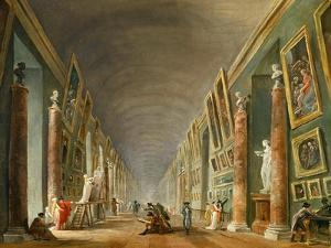 The Grand Galery of the Louvre by Hubert Robert