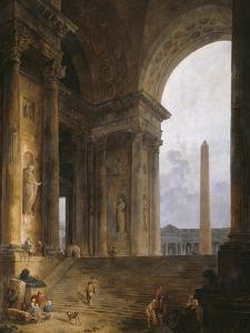 The Obelisk, 1787-88 by Hubert Robert