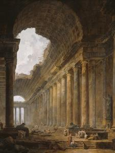 The Old Temple, 1787-88 by Hubert Robert