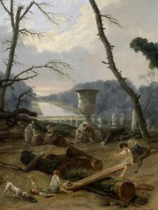 Vue du Tapis Vert à Versailles by Hubert Robert