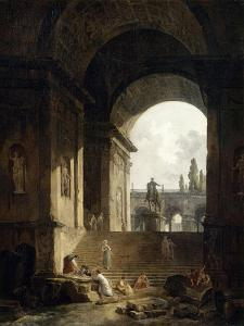 Vue pittoresque du Capitole by Hubert Robert
