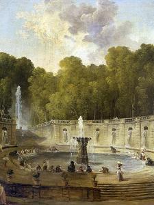Washerwomen in a Park by Hubert Robert