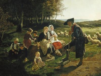 Children Listen to a Shepherd, 1868