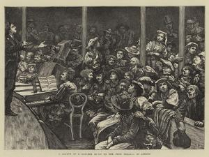 A Sketch at a Concert Given to the Poor Italians in London by Hubert von Herkomer