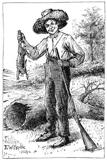 Huckleberry Finn, 1884- Chatto & Windus-Giclee Print