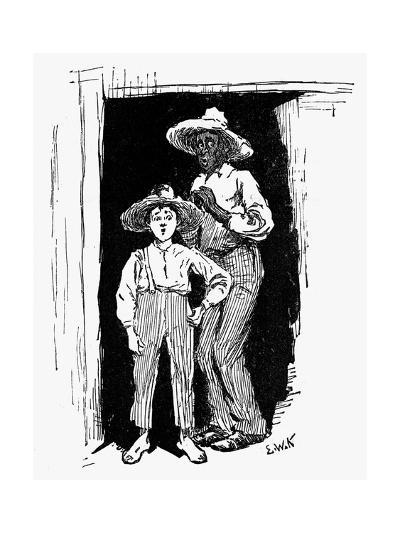 Huckleberry Finn and Jim--Giclee Print