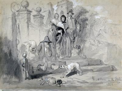 Hudibras in the Stocks, 1850-John Gilbert-Giclee Print