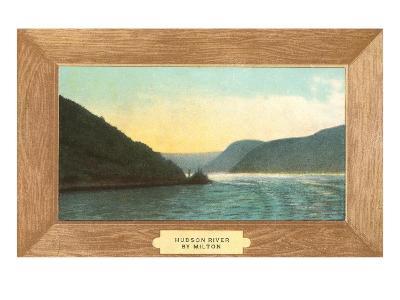 Hudson River Painting by Milton--Art Print