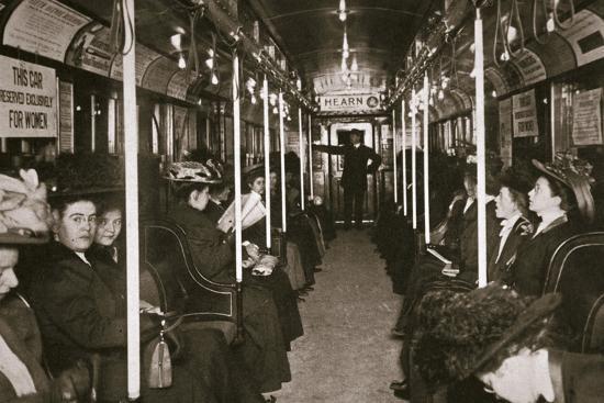 Hudson River subway train, New York, USA, c1901-Edwin Levick-Photographic Print