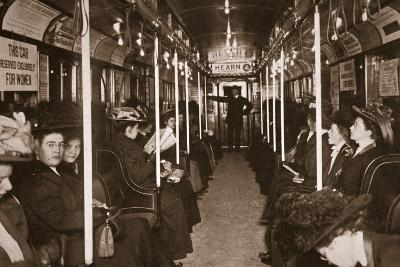 Hudson River Subway Train, Photographed by Edwin Levick, C.1901--Photographic Print