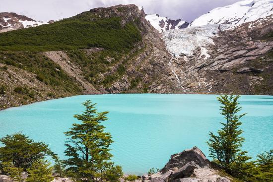 Huemul Lake (Lago Huemul) and Huemul Glacier (Glaciar Huemul), El Chalten, Patagonia, Argentina-Matthew Williams-Ellis-Photographic Print