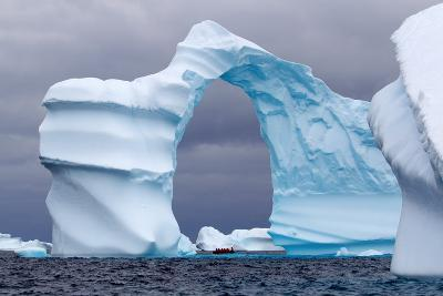 Huge Arch Shaped Iceberg in Antarctica-slew11-Photographic Print