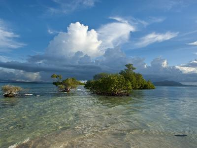 Huge Cloud Formations over the Marovo Lagoon, Solomon Islands, Pacific-Michael Runkel-Photographic Print