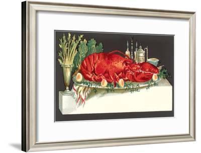 Huge Lobster on Serving Platter--Framed Art Print