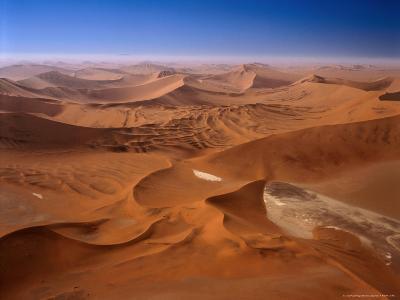 Huge Sand Dunes in Namib-Naukluft Desert Park, Sossusvlei, Namibia-Manfred Gottschalk-Photographic Print