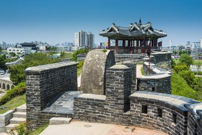Huge Stone Walls around the Fortress of Suwon, UNESCO World Heritage Site, South Korea, Asia-Michael-Photographic Print