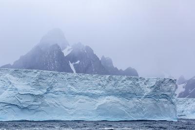 Huge Tabular Icebergs Broken Off from B-17A Iceberg Near Cooper Bay, Polar Regions-Michael Nolan-Photographic Print