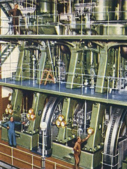 Huge triple expansion pumping engine, 1938-Unknown-Giclee Print