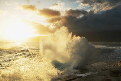 Huge Wave Crashing Against Coastal Rocks on the Portlock Coastline; Oahu-Design Pics Inc-Photographic Print
