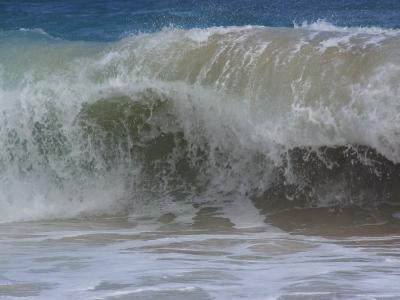 Huge Waves Break near the Shore, Hawaii-Stacy Gold-Photographic Print