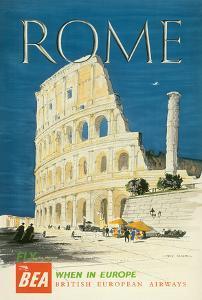Rome, Italy - The Colosseum, Flavian Amphitheatre - BEA (British European Airways) by Hugh Casson