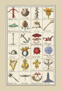 Heraldic Symbols: Crossbow and Escallop by Hugh Clark