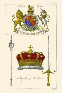 Regalia of Scotland - Arms, Staff, Sword and Crown by Hugh Clark