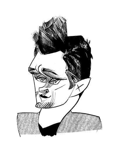 Hugh Dancy - Cartoon-Tom Bachtell-Premium Giclee Print