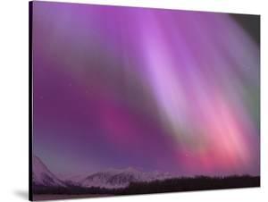 Aurora Borealis, Wrangell Mountains, Alaska, USA by Hugh Rose