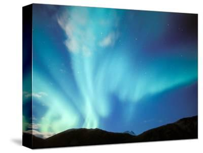 Green Aurora Borealis Around Mt. Snowden, Brooks Range, Alaska, USA