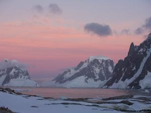 Sunset Light on Lemaire Channel, Antarctic Peninsula by Hugh Rose