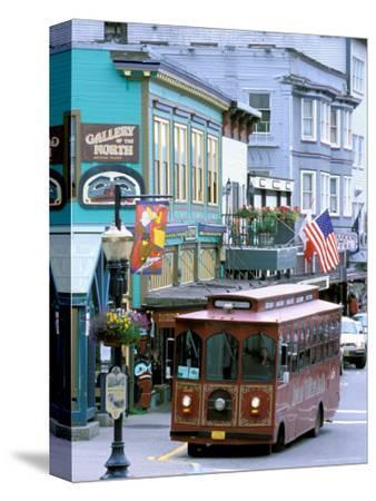 Trolley Car Shuttles Passengers around Juneau, Alaska, USA