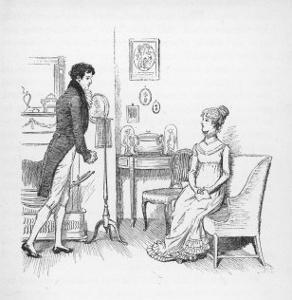 Elizabeth Bennet Refuses Mr. Darcy by Hugh Thomson