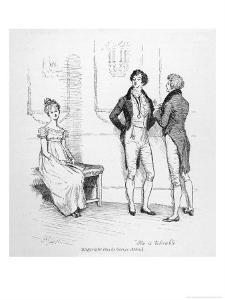 Mr. Darcy Finds Elizabeth Bennet Tolerable by Hugh Thomson