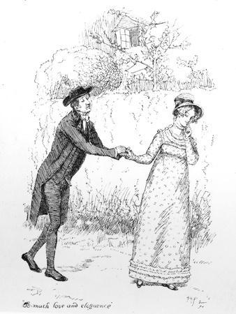 So Much Love and Eloquence', Illustration from 'Pride and Prejudice' by Jane Austen, Edition…