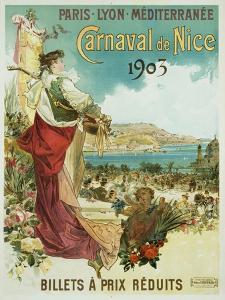 Carnaval De Nice Poster by Hugo D'Alesi