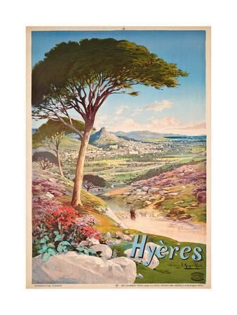 Poster Advertising Hyeres, France, 1900