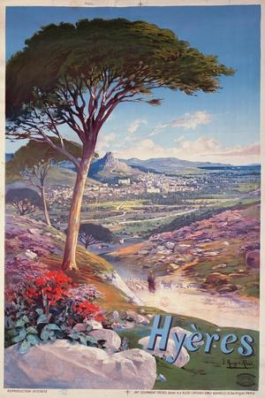 Poster Advertising Hyeres, Provence