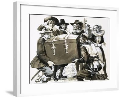 Hugo Grotius Escapes from the Fortress Prison of Loevateyn--Framed Giclee Print