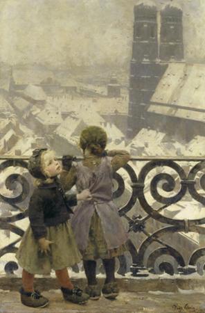 Beim Tuermer Von St.Peter, Muenchen, um 1890 by Hugo König