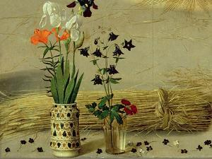 Flower Detail, from the Central Panel of the Portinari Altarpiece, C.1479 by Hugo van der Goes