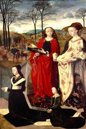 Saint Margaret and Saint Mary Magdalen with Maria Portinari and her daughter