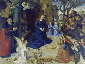 The Portinari Altarpiece. Central Panel: the Adoration of the Shepherds by Hugo van der Goes